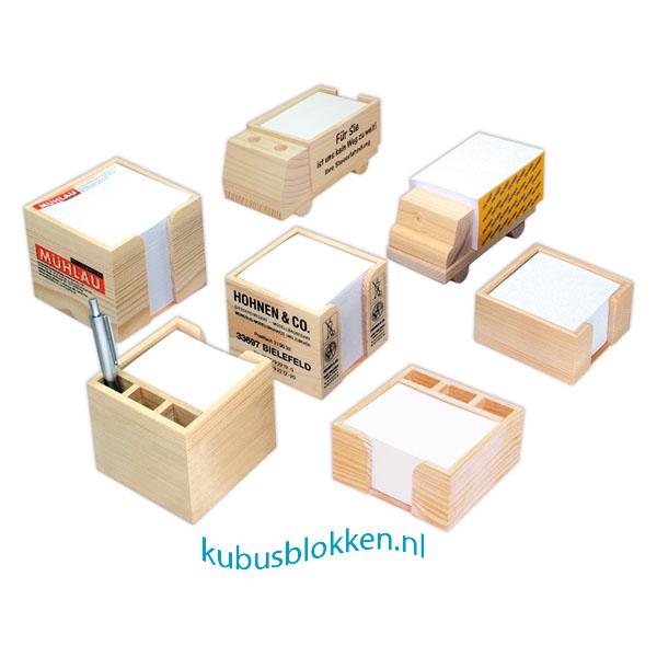 houten kubusblokken