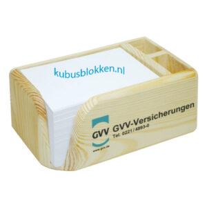 houten kubushouder soft feel